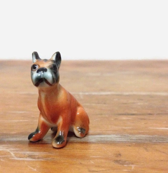 miniature boston terrier miniature boston terrier boxer figurine tiny bone china dog 9560