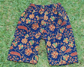 Hippie Kids pants -Size 9 mths to 1 yr.- Red Orange Blue -Boys or Girls- Read measurements