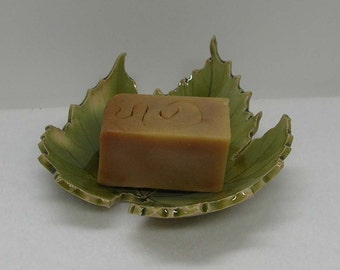 Porcelain Grape Leaf Imprinted Shallow Bowl