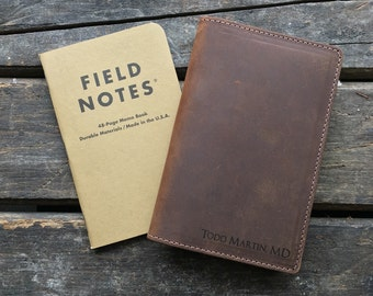 Field Notes Leather Cover - Customizable - Free Personalization