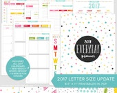 """L • 2017 Everyday Planner Update - PDF - 8.5"""" x 11"""" - A4 Letter Size Printable Organizer Inserts"""