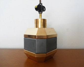 FACETED Brass and Stainless LAMP by Chapman