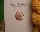 Yew Wood Button- Oregon Yew Wood- Handmade Wooden Button- Knitting, Sewing, Craft Buttons- DIY Knitting Supply