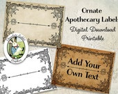 Blank Apothecary Labels Vintage Digital Download Printable Editable Clip Art Scrapbook Tags Halloween Potion Bottles Bath Body Label Image