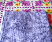 Lavender Ribbed Plush Chenille Bedspread Fabric 18 x 24 Inches