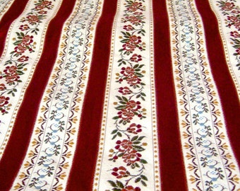 Vintage Satin Brocade French Lisere Fabric 17 x 25 Inches