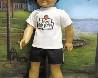 """Basketball Outfit for 18"""" Boy Doll"""