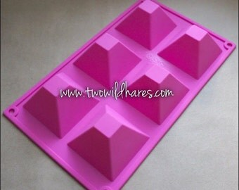 PYRAMID Silicone Mold, 21 oz. 6 Cavity, Heat Resistant, Two Wild Hares