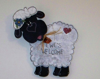 Ewes Welcome Sign
