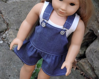 18 Inch Doll Clothes Shortalls Romper and Bodysuit
