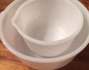 Vintage Glasbake Sunbeam Mixing Bowls