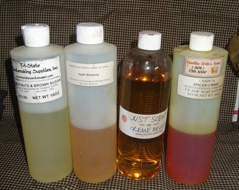 Candlemaking Scented Oils 4 Bottles