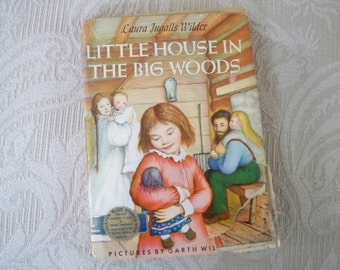 """Vintage Children's Book """" Little House in The Big Woods"""" Classic Story Book 1953"""