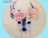 Florence the Deer - Cross Stitch/Embroidery Pattern PDF