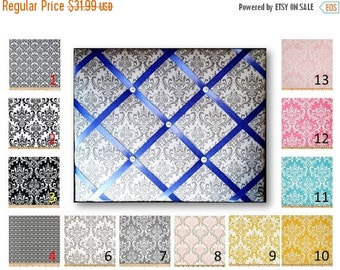 BACK TO SCHOOL Damask  Print French Memo Board in Your choice of damask fabric by Premier Prints - 11 x 14