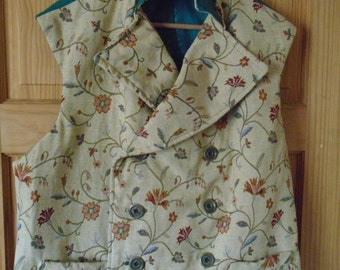 """Steampunk Classic Sweeny Todd  Tapestry Waistcoat 47- 54"""" Chest."""