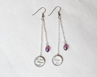 Swarovski Crystal Drop Earrings Bridal Jewellery Literature Dangly Delicate Chain Wedding Jewelry Pink Red Aqua Clear Purple Swishy Sparkly