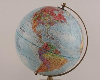 Vintage Replogle Globe World Nations Series Planet Earth 1960s LeRoy M. Tolman