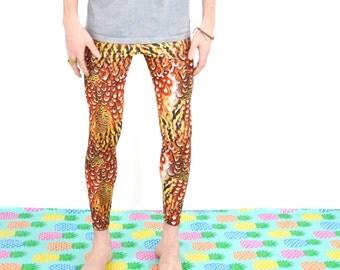 Men's Leggings - Phoenix Print