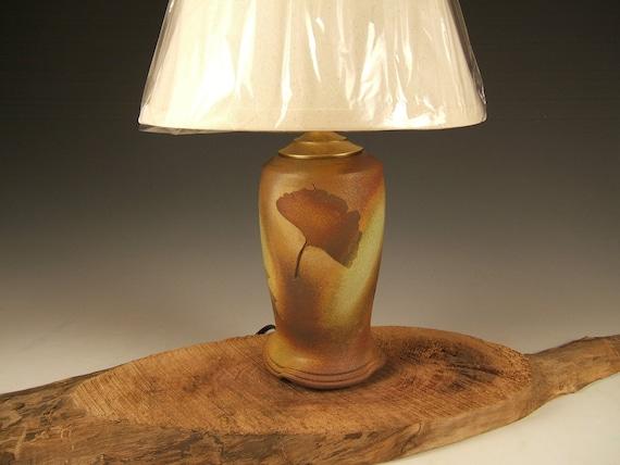 Items Similar To Earthtone Ceramic Table Lamp With Shade