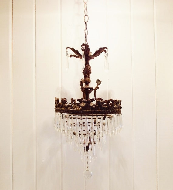 This Is Not Your Grandma S Chandelier: Vintage Bronze Chandelier Wedding Cake Style Chandelier Frame