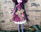 Harvest Witch outfit for Maudlynn Macabre, Monster High 17 inch dolls