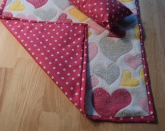 Handmade Doll Quilt and pillow for your doll bed
