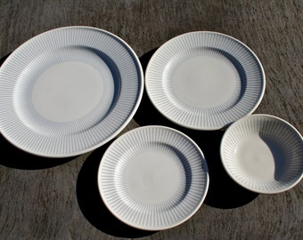 Vintage George Nelson Design Interpace Mayer China Minners Airline Rare Sunburst 4 Piece Place Setting SALEStarburst Plates Bowl Dinner 60s