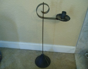 Old Upcycled Metal Oil Funnel and Metal Candle Holder