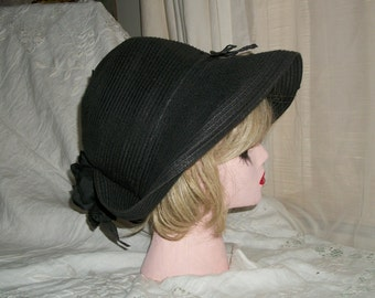 1920s Flapper Style Cloche Hat Woven Cotton Orig Design One Size Fits Most