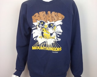 VTG 80s Mountaineers Faded Distressed Sweatshirt
