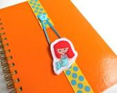 Ready to Ship Elastic Ribbon Bookmark - Day Planner - Kids Bookmark - Bookmark Day Planner - FiloFax - Girls Bookmark - Mermaid Bookmark