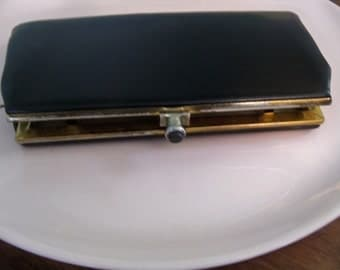 hand made in Canada  JOHN HORT  black clutch vintage sixties