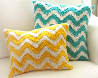 Chevron Pillow Covers - PDF Crochet Pattern - Instant Download