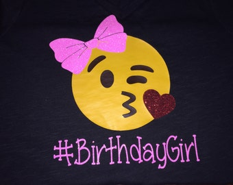Emoji Birthday Girl Shirt