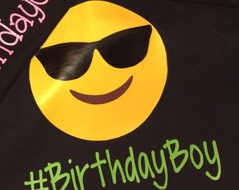 Emoji Birthday Boy Shirt
