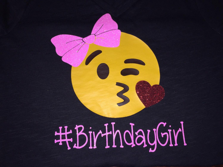 Emoji Birthday Girl Shirt