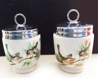 2 Royal Worcester wren egg coddlers