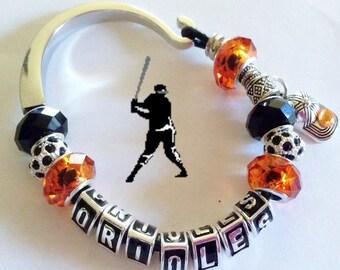 BALTIMORE ORIOLES BASEBALL jewelry bracelets handmade