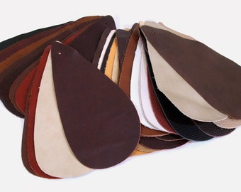 Leather Samples Lot of 35 Variety of Colors and Textures