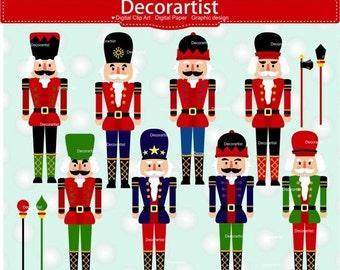 ON SALE Christmas clip art, Christmas nutcrackers clip art, christmas soldier clip art, instant download