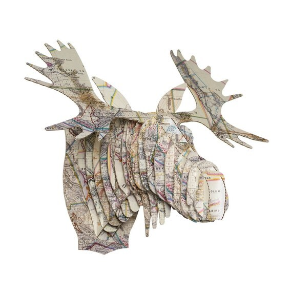 Cardboard safari fred cardboard moose head small - Cardboard moosehead ...