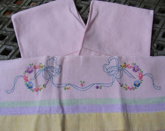 From a cottage on the prairie ~ 3 vintage pink towels
