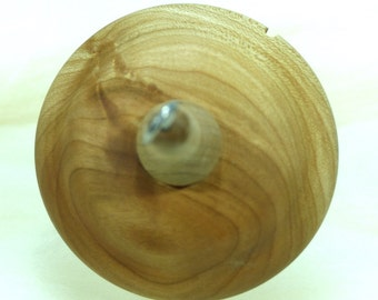 Lleto Hand-Turned Cherry & Maple Drop Spindle/ Top Whorl 37 Grams