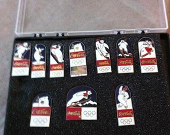 Olympic Coca Cola Polar Bear Pin Set