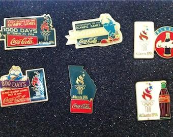 1996 Olympic Coca Cola pins