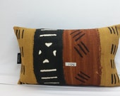 104 African mudcloth bogolanfini accent pillows, 16 x 10 inches, mud cloth