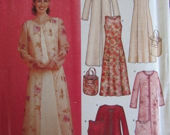 New Look 6270 Uncut Sewing Pattern Misses 10-22 Easy Sew Dress, Jacket, Purse/2003