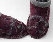 Mens wool upcycled wool slippers.