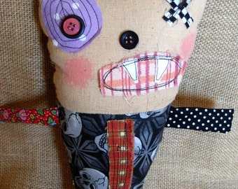 Monster Doll Maurice |Rag Doll|Art Doll|Handmade
